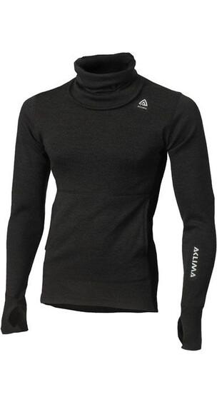 Aclima M's Warmwool Hood Sweater Marengo/Jet Black